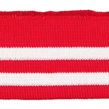 Boord rood-wit gestreept ca. 57 cm (6 stuks)