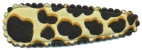 Haarkniphoesje giraffe print zacht geel 5 cm (ca. 100 stuks)
