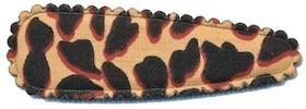 Haarkniphoesje giraffe print terra 5 cm (ca. 100 stuks)