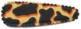 Haarkniphoesje giraffe print zand 5 cm (ca. 100 stuks)