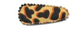 Haarkniphoesje giraffe print zand 3 cm (ca. 100 stuks)