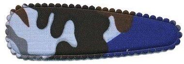 Haarkniphoesje camouflageprint blauw 8 cm (ca. 100 stuks)