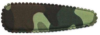 Haarkniphoesje camouflageprint groen 8 cm (ca. 100 stuks)