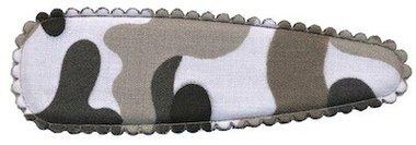 Haarkniphoesje camouflageprint grijs 8 cm (ca. 100 stuks)