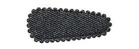 Haarkniphoesje denim grijs 3 cm (ca. 100 stuks)