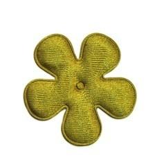 Applicatie bloem mosgroen satijn effen middel 35 mm (ca. 100 stuks)