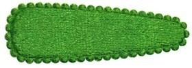 Haarkniphoesje fluweel grasgroen 5 cm (ca. 100 stuks)