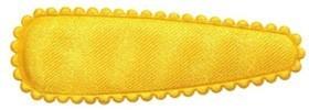 Haarkniphoesje satijn warm geel 5 cm (ca. 100 stuks)