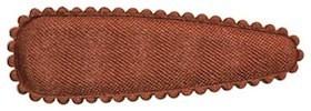 Haarkniphoesje satijn bruin 5 cm (ca. 100 stuks)