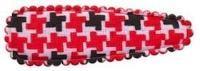 Haarkniphoesje Pied de Poule-look rood-zwart 5 cm (ca. 100 stuks)