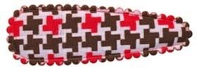 Haarkniphoesje Pied de Poule-look bruin-rood 5 cm (ca. 100 stuks)