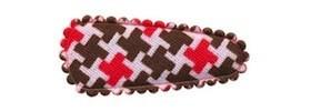 Haarkniphoesje Pied de Poule-look bruin-rood 3 cm (ca. 100 stuks)