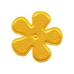 Applicatie bloem warm geel satijn effen middel 35 mm (ca. 100 stuks)