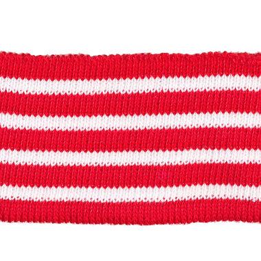 Boord rood met witte streepjes ENKEL ca. 62 cm (6 stuks)