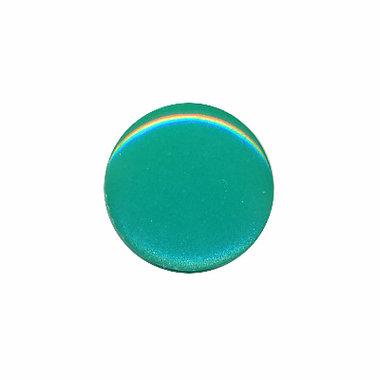 Knoop glans mint groen 15 mm (ca. 50 stuks)