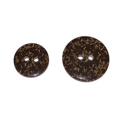 Cocos-look knoop bruin 15 mm (ca. 50 stuks)