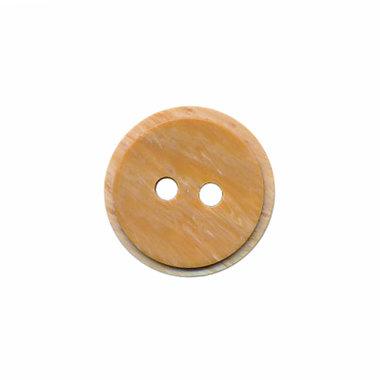 Hout-look knoop licht bruin 15 mm (ca. 50 stuks)