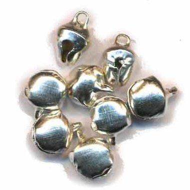 Belletjes zilverkleurig 8 mm (ca. 200 stuks)