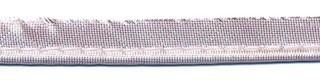 Licht roze metallic piping-/paspelband STANDAARD - 2 mm koord (ca. 10 meter)