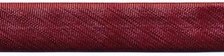 Rood metallic gevouwen biaisband 13 mm (ca. 10 meter)