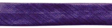 Paars metallic gevouwen biaisband 13 mm (ca. 10 meter)