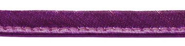 Fuchsia metallic piping-/paspelband 10 mm (ca. 10 meter)