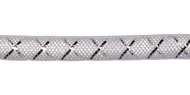 Decoslang 8 mm wit met zilverkleurige draad (ca. 27 meter)