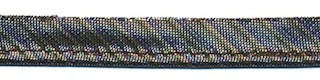 Zwart gestreept metallic piping-/paspelband 10 mm (ca. 10 meter)