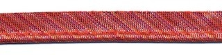Rood gestreept metallic piping-/paspelband 10 mm (ca. 10 meter)