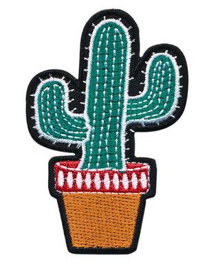 Opstrijkbare applicatie cactus in pot (5 stuks)
