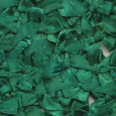 Satijnen strikjes donker groen (ca. 100 stuks)