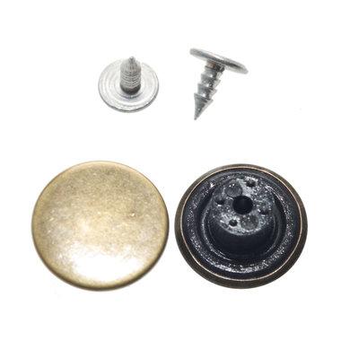 Jeans knoop bronskleurig GLAD 17 mm (ca. 100 stuks)