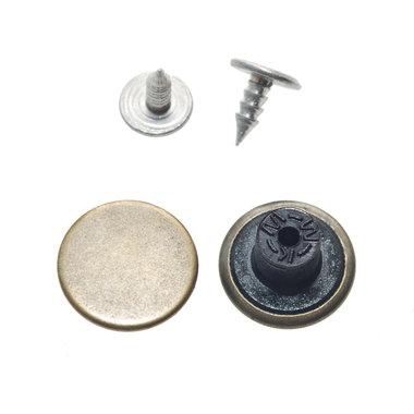Jeans knoop bronskleurig GLAD 15 mm (ca. 100 stuks)