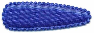 Haarkniphoesje satijn kobalt blauw 5 cm (ca. 100 stuks)