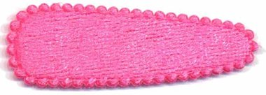 Haarkniphoesje fluweel knalroze 5 cm (ca. 100 stuks)