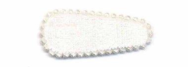 Haarkniphoesje fluweel creme 3 cm (ca. 100 stuks)