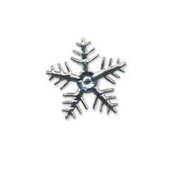 Applicatie sneeuwvlok zilverkleurig klein 25 x 25 mm (ca. 100 stuks)