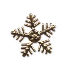 Applicatie sneeuwvlok goudkleurig middel 35 x 35 mm (ca. 100 stuks)