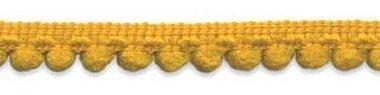 Bolletjesband oker geel 10 mm (ca. 32 meter)