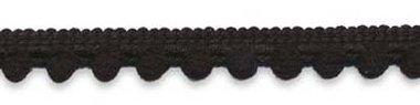 Bolletjesband zwart 10 mm (ca. 32 meter)