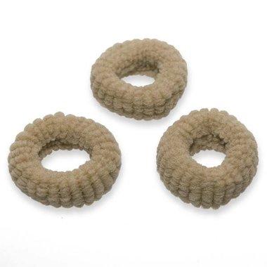 Badstof haarelastiek zand (ca. 25 stuks)