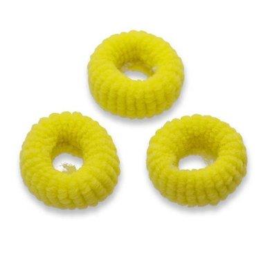 Badstof haarelastiek geel (ca. 25 stuks)