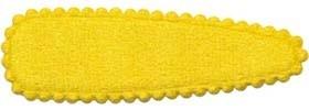 Haarkniphoesje fluweel geel 5 cm (ca. 20 stuks)