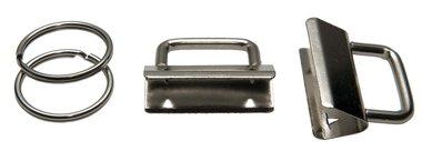 Sleutelhangerklem met sleutelring 32 mm (ca. 25 stuks)