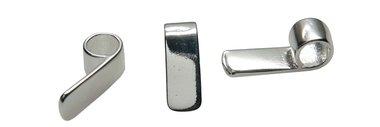 Zilverkleurige strakke bail 18 x 6 mm (ca. 25 stuks)