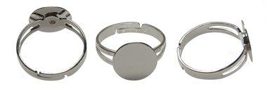 Verstelbare ring 17-20 mm met plakschijfje (ca. 25 stuks)
