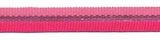 Roze-zilver-fuchsia 3-streep grosgrain/ribsband 10 mm (ca. 45 m)