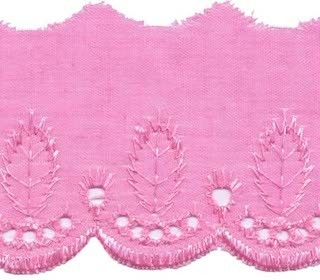 Broderie roze 50 mm (ca. 13,5 m)