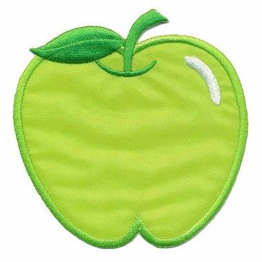 Opstrijkbare applicatie appel groen (5 stuks)
