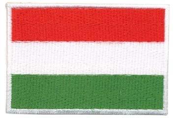 Opstrijkbare applicatie Hongaarse vlag (5 stuks)